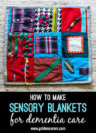 sensory mats or fidget blankets provide a soothing and stimulating activity for people living with dementia