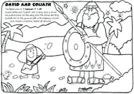 David And Goliath Coloring Pages Coloring Page And Pages Book David