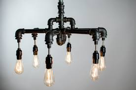 alluring diy industrial chandelier with a hand crafted 6 edison bulbs industrial lighting chandelier