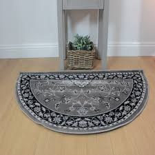 sincerity sherborne grey traditional half moon rug by flair rugs 3