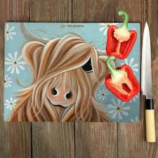 the little miss daisy glass chopping board large cutting boards 16x20