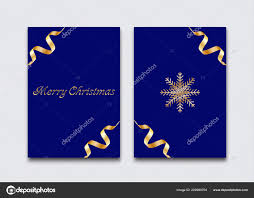 Simple Elegant Design Christmas Postcard Simple Elegant Design Stock Vector