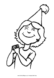 Small Picture Birthday Girl Coloring Page