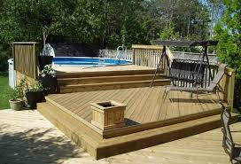 N Miraculous Above Ground Pool Deck Plans Decks  27 Ft Round