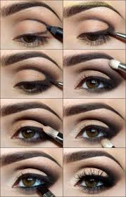 simple natural smoking eye makeup follow the easy steps in the picture stay beautiful
