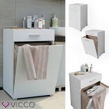 Vicco Wäschekorb Matteo Weiß Waschmaschinenschrank Ba Real