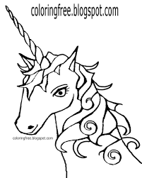 Coloring Pages Of Unicorn Heads Coloring Baby Unicorn Coloring