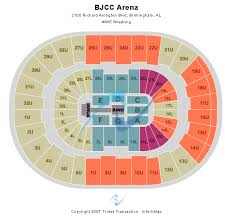 Birmingham Jefferson Civic Center Seating Chart Bjcc Arena Seating Chart