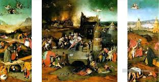 garden of earthly delights poster. Hieronymus Bosch Garden Of Earthly Delights Canvas 4 Outer Wings The Poster