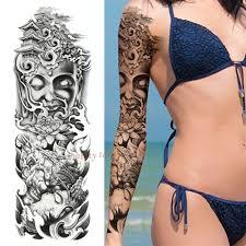 10762 руб 5 скидкаnu Taty череп лотос большой татуировки на руку водонепроницаемый