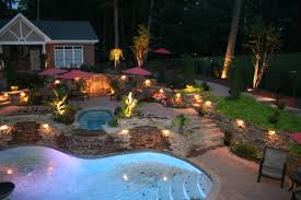 pool landscape lighting ideas