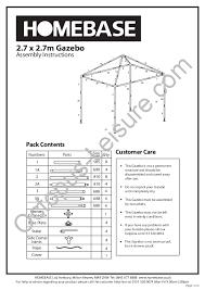 gazebo gazebo blooma garden party gazebo instructions