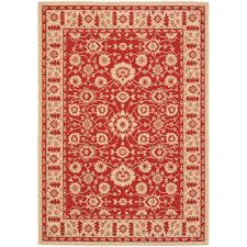 safavieh indoor outdoor red cream area rugs cy6126