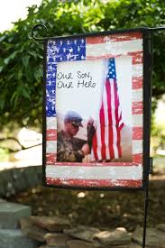 Small Picture Our Son Our Hero custom patriotic garden flag from flagologycom