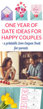 Relationship Coupon Book One Year Of Date Ideas For Happy Couples A Love Coupon Book For Parents