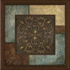 framed abstract print on blue brown wall art with shop wall art at lowes