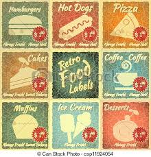 Vintage Food Labels Set Of Retro Food Labels Set Of Vintage Food Labels With Place For