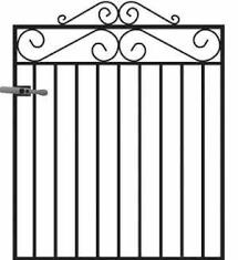 engrossing metal garden gates belfast