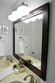 framed bathroom mirrors. Stylish DIY Framed Bathroom Mirror - Shelterness | Diy Frame Mirrors