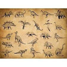Amazon Com Meishe Art Poster Print Dinosaur Species