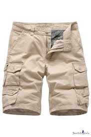 Men's <b>Summer New</b> Stylish <b>Solid Color</b> Button Embellished Multi ...