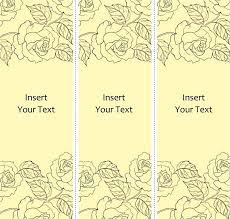 Microsoft Office Bookmark Template