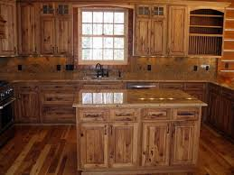 rustic cabinets. Popular Rustic Cabinets With Hickory Kitchen Solid Wood Furniture Ideas Design 14