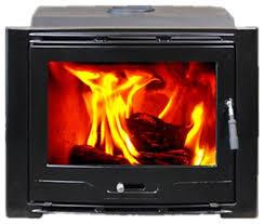 hiflame cast iron wood burning fireplace insert enamel black