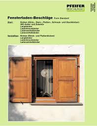 Fensterladen Beschläge Form Standard Pdf