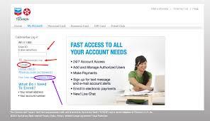 chevron texaco credit card login and account create
