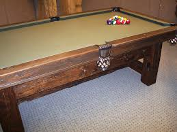 barn board pool table