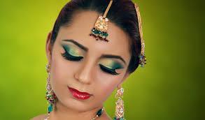 jade green gold indian bridal makeup tutorial asian arabic stani contemporary wedding look you
