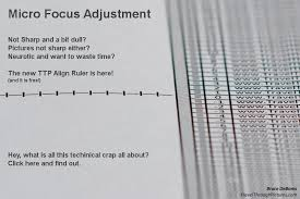 Micro Focus Adjustment Align Ruler Travel Through Pictures