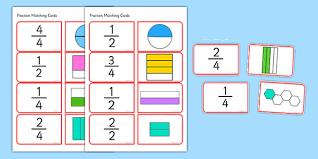 Quarter Cards Halves And Quarters Matching Cards Halves Quarters