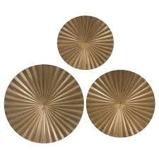 on metal circle wall decor with gold metal radial wall decor