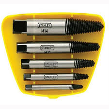 bolt extractor. buy stanley 5 piece damaged bolt screw stud extractor remover easy out online
