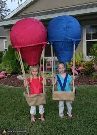 twin hot air balloons costume