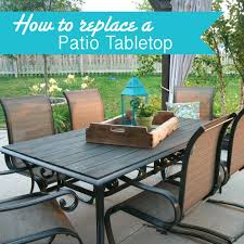 patio table top replacement makeover an outdoor table and refresh chairs stone patio table top replacement