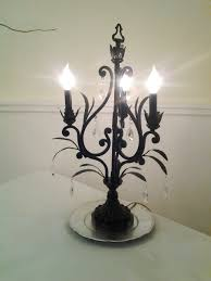 chandelier table top lamps silver lamp with clear plastic beaded lighting ideas