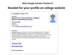 Google Scholar Citations Ppt Download