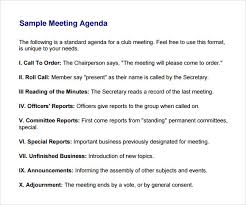 agenda of a meeting format business meeting agenda template 5 download free documents in pdf