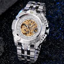 Luxury Automatic Mechanical Watch <b>Skeleton</b> Wristwatch Sale ...