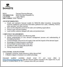 Demand Planning Manager Cover Letter Cover Letter Resume