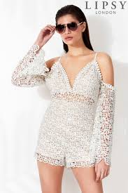 lipsy lace playsuit