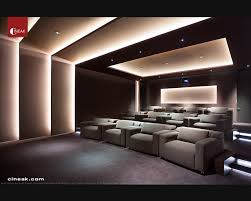 Exquisite New Media Room featuring CINEAK Strato Seats Modern