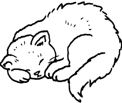 Small Picture Cats Sleeping Coloring Pages Coloriages Images Chiens Chats et