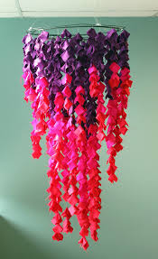 use ss of fabric to get dramatic with this vibrant ombre chandelier project scarves net