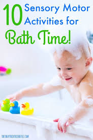the inspired treehouse bath time is a great time for sensory activitieotor play
