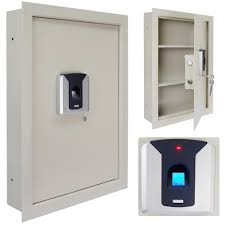 0 8 100 fingerprint wall safe box biometric lock black white home office hotel security cash