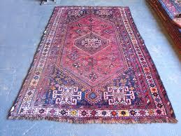 semi old persian shiraz rug 242 x 140cm